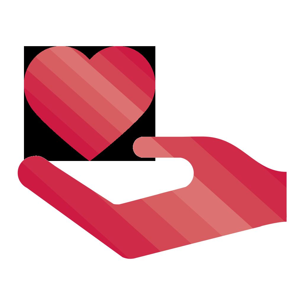 Arc-en-ciel du coeur-pictogramme-Faire un don